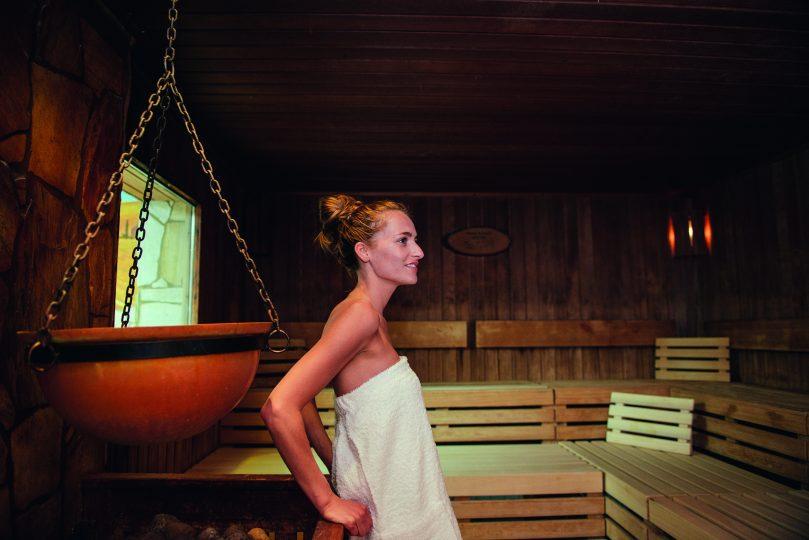 saunalandschaft und die aromensauna in der Sylter Welle