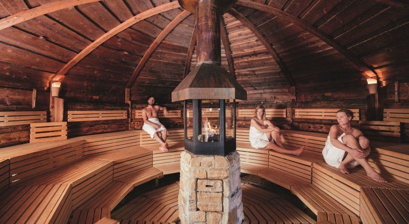 Wikingersauna der Saunalandschaft der Sylter Welle